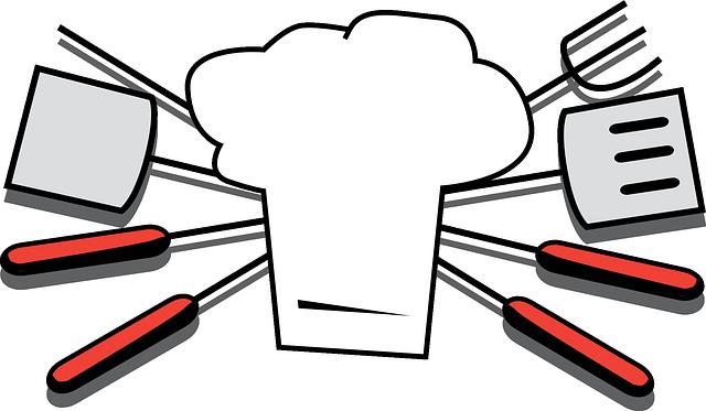 Toque et accessoires pour cuisinier
