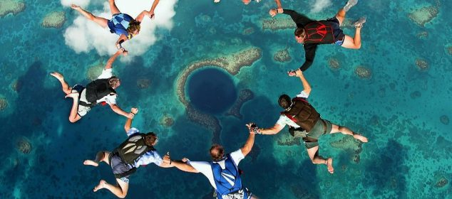 parachute grand trou du Belize