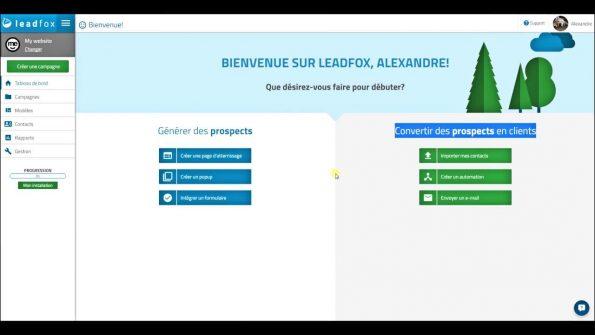 Marketing automatisé avec Leadfox