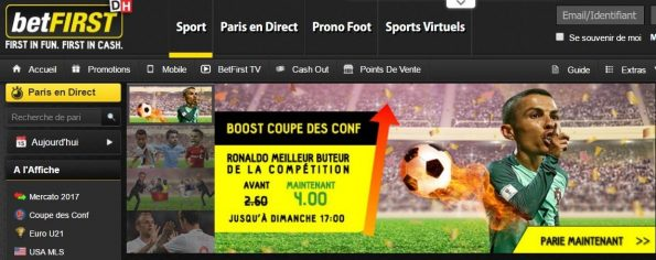 betFIRST Sport : streaming et paris en direct